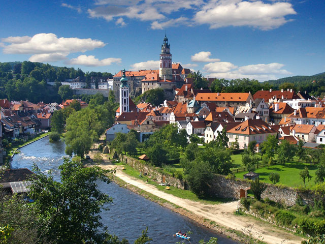 Cesky Krumlov an outstanding example of a small central European medieval town