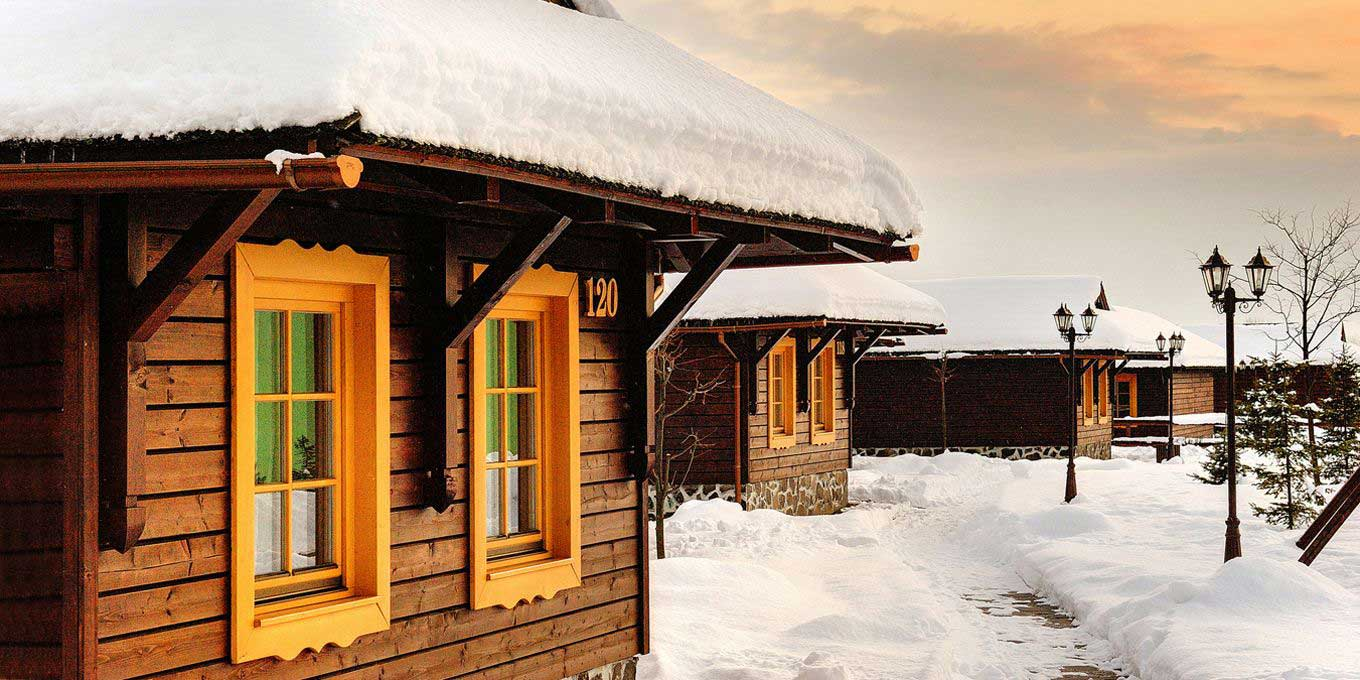 Bungalow C in the winter - Holiday Village Tatralandia