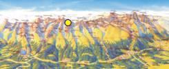 Map of Ganek Peak Trekking Tour  with Mountain Guide