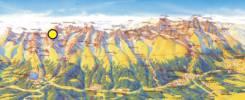 Map of Satan Peak Trekking Tour  with Mountain Guide