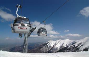 Cableways Vratna ski resort
