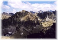 Typische Blick in Hohe Tatra