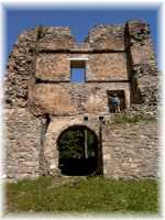 Zvolen town - Ruins of Pusty castle - the biggest castle in the Europe - 7,6 ha
