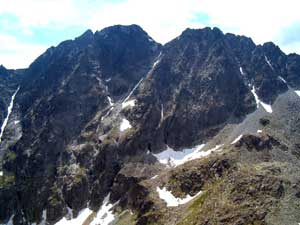 Slovakia Travel - Gerlachovsky Peak from the top of Vychodna Vysoka Peak