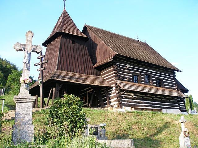 Wooden church in Brezany