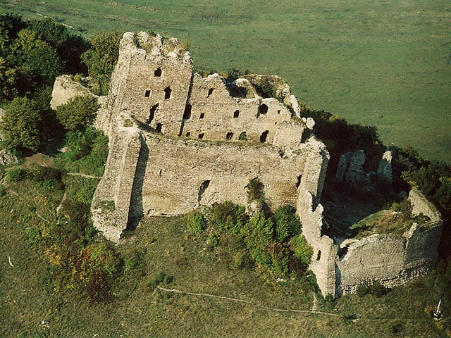 Ruins of castle in Kapusany