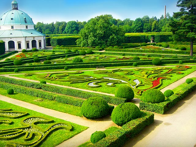 Castle and Gardens in Kromeriz UNESCO heritage