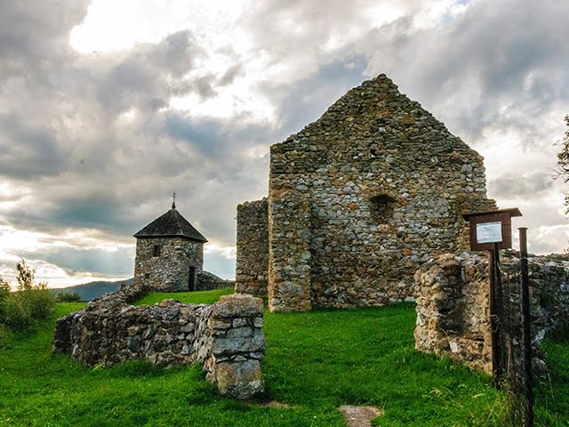 Ruins of the Medieval Fortified Church in Lúčka