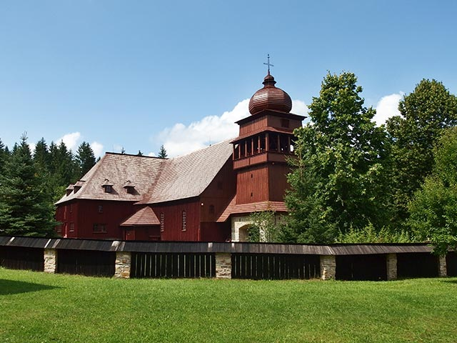 Wooden articled Evangelical church Svaty Kriz