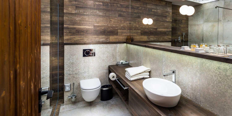 Bathroom in Deluxe Saffron Room - Posta Boutique Hotel