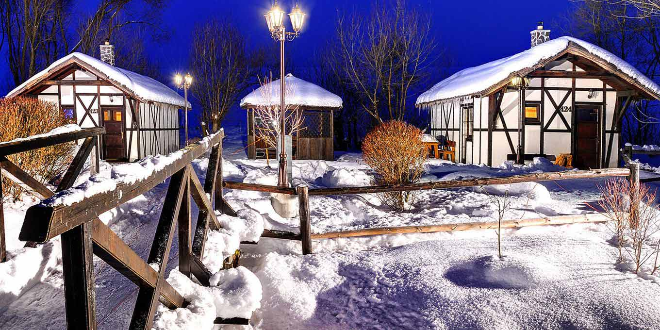 Bungalows B in the winter - Aпартаменты в Холидей Виллидж Татрaлaндия / Apartments in Holiday Village Tatralandia
