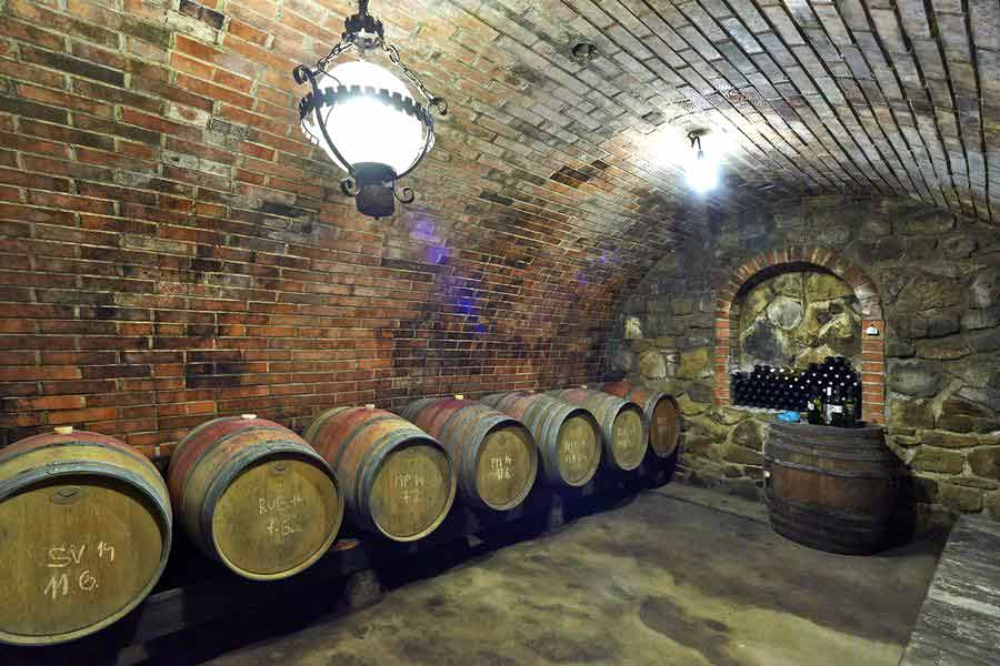 Kopecek Winery - Wine Cellar