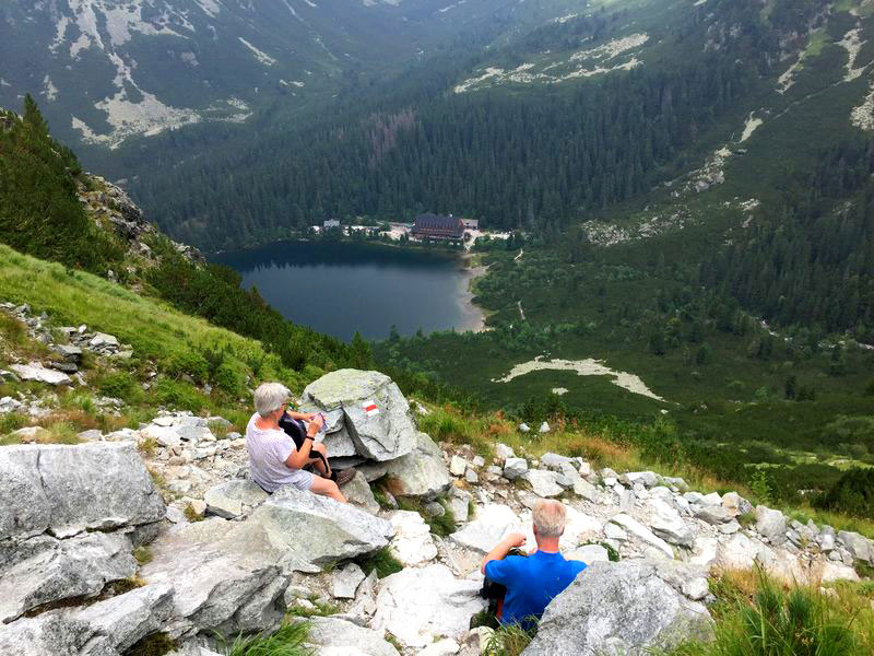 Popradske pleso mountain lake
