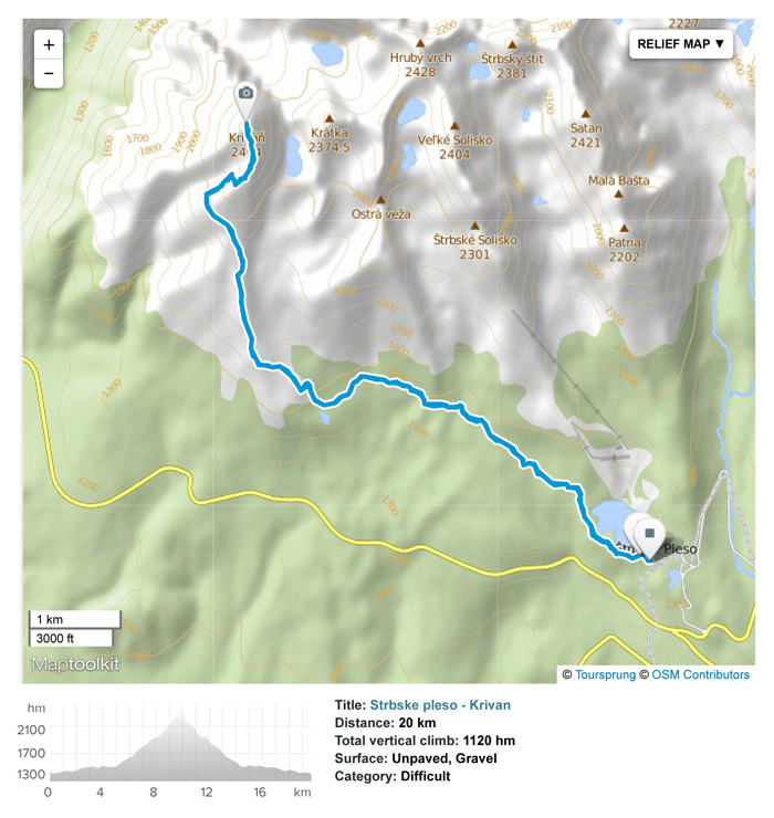 Day hike from Strbske Pleso to Krivan peak.