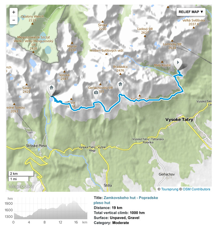 Hike from Zamkovsky hut to Popradske pleso (Popradske pleso mountain hotel).