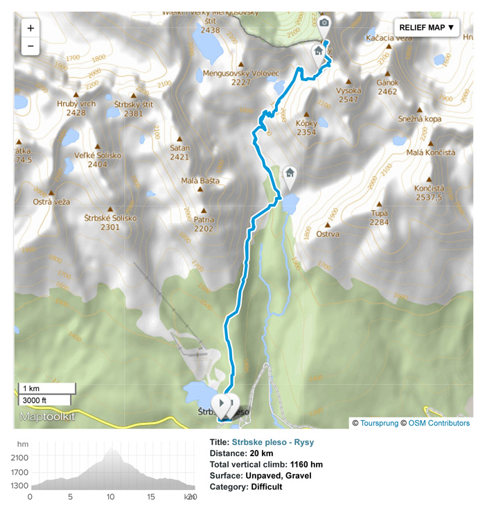 Tatra National Park: Day hike from Strbske Pleso village to Rysy peak.
