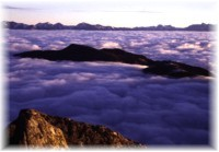 Clouds sea in Low Tatras