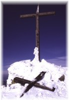 Symbolic cross on Dumbier peak