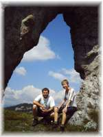 Ohniste Natural Arch in the Low Tatras